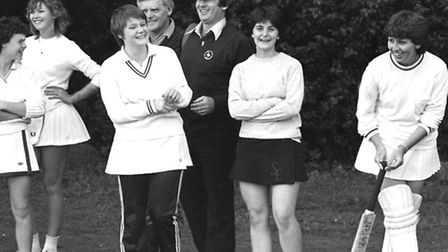 From The Archives East Ladies Cricket at Woodbridge School July 1982