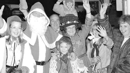 From The Archives East Father Christmas arrival at Saxmundham Railway Station November 1992
