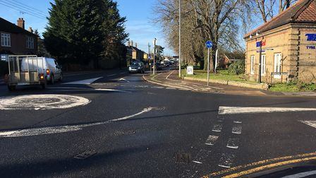 Vinces Road junction in Diss PICTURE: SABRINA JOHNSON