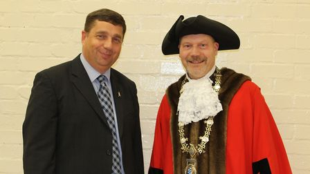Former leader Graham Minshull (left) and former mayor Mike Bardwell have both resigned from Diss Tow
