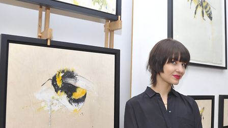 Artist Sophie Elinor Martin's new exhibition celebrating the bee at the RE+new Gallery in Woodbridge