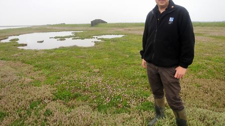 Aaron Howe, South Suffolk Sites Manager for the RSPB on Havergate Island, Near Orfor d