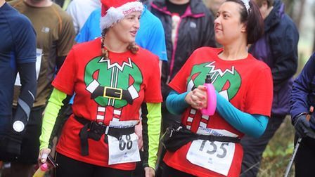 Festive Forest Challenge in aid of St Nicholas Hospice Care. Thetford forest.