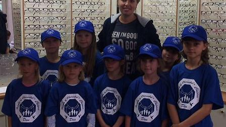 Children visitng from Belarus, pay a visit to the opticians. picture: Friends of Chernobyl's Chirldr