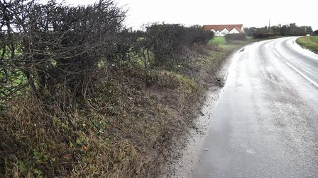 Church road in South Lopham along which a man has died after a RTAByline: Sonya DuncanCopyright: Arc