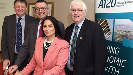 Left to Right: Chairman of the Haven Gateway Partnership George Kieffer with local MPs Bernard Jenki