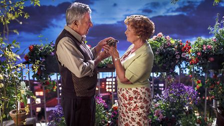 Duston Hoffman as Mr Hoppy and Dame Judi Dench as Mrs Silver in the BBC's adaptation of Esio Trot.