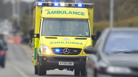 The expectant mother was taken the NNUH in an ambulance. Picture: Simon Finlay