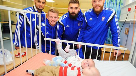 Footballers from Ipswich Town will pay the club's traditional Christmas visit to the Children's Unit