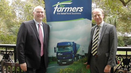 Iain Gardner, chief operating officer of ForFarmers, and Yoram Knoop, chief executive of ForFarmers,