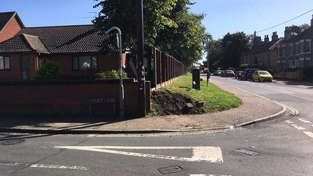 Roydon Road in Diss, at the Louie's Lane junction. Picture: DOMINIC GILBERT/ARCHANT LIBRARY