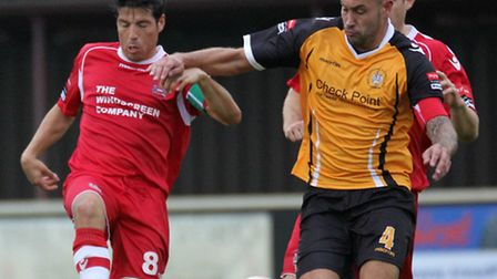Needham Market captain Kem Izzet (left), who will take up the position of head coach when the new jo