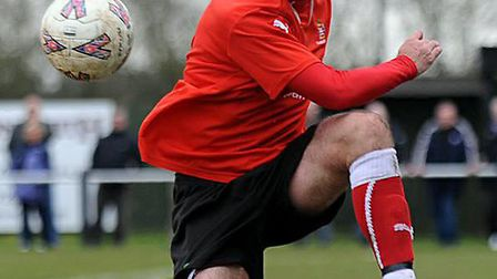 Needham Market Academy Head Coach Kevin Horlock in action for the Marketmen during his playing days