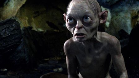 Gollum, voiced by Andy Serkis, in a scene from The Hobbit trilogy (AP Photo/Warner Bros., File)