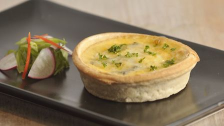 Leek and mushroom quiche at Momentum Cafe in Ipswich.