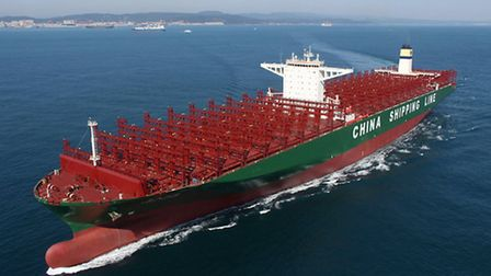 The CSCL Globe will call at the Port of Felixstowe on January 7