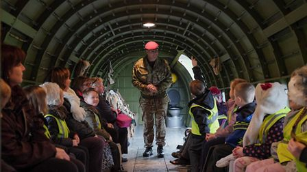 Youngsters from Roach Vale Primary School visit Colchester Garrison to learn about flight.