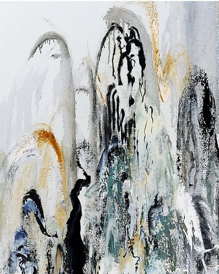 Detail from Wall of Water 2 - part of Maggi Hambling's new exhibition at The National Gallery