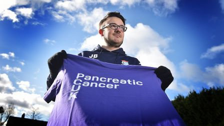 James Bloomfield who is doing a charity run in memory of Tom Ship. Picture: ANTONY KELLY