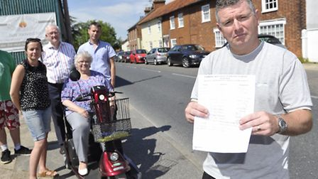 Fore Street residents in Framlingham Robbie Oldfield, Victoria Romero, Chairman of the Suffolk Count