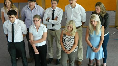 All of the finalists in Farmers Apprentice preparing to find out who won the competition at the end