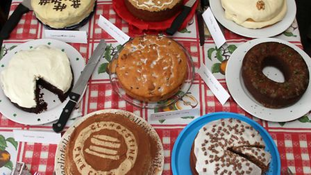The selection of cakes at the Clandestine Cake Club. Photograph Simon Parker