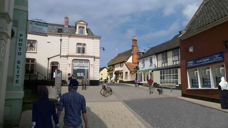 """""""New road designs in the """"Heritage Triangle"""" area of Diss."""