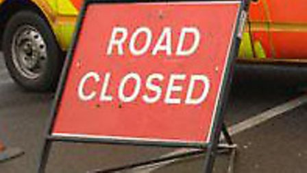 The A1065 was closed following an accident