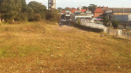 Land off Railway Approach in Felixstowe where a new 30,000sq ft superstore is to be built.