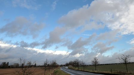 A blustery day in Suffolk created some dramatic cloud formations in Framlingham.
