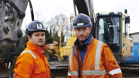 Chris Winfield, left, and Adrian Hardesty who head the new demolition department at Quinto Crane & P
