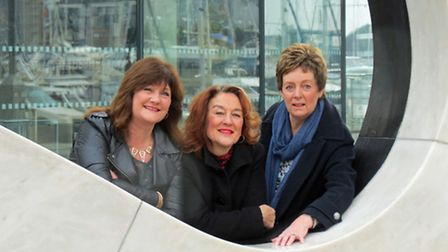 From left, Kim Brown of Boleyn Events, Christine Schofield of CPW Computing and Vivienne Maunder of