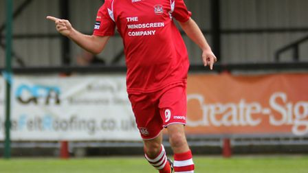 Needham Market's Sam Newson, who has just sealed a new deal at the Suffolk club
