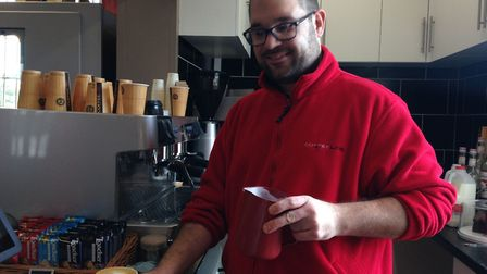 Loren Ellis, manager at the newly opened Diss Railway Station Coffee Links shop. Picture: Sabrina Jo