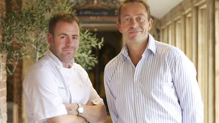 Philip Turner, the founder of Chestnut Inns, right, with the companys executive chief, Chris Lee.
