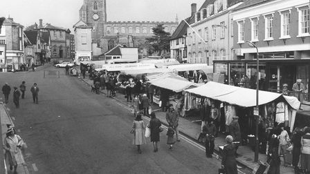 The Market Place in Diss back in 1979. Picture: Archant.