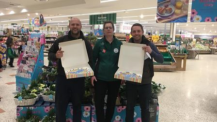 Morrisons community champion Sharon Eakers wanted to give the snow heroes something to thank them. P