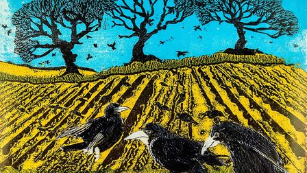 Three Rooks by Chris Mound, one of the artists who will take part in this year's Harleston and Waven