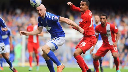 Conor Sammon in action for Ipswich Town