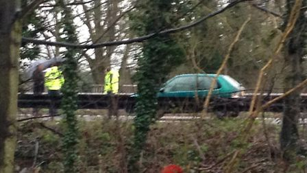 Crash on the A12 northbound at Dedham on January 13.