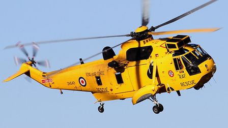 A Sea King from Wattisham completes a circuit during an air test.