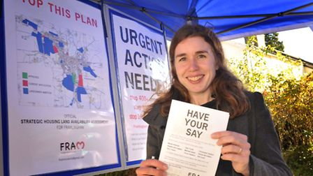 Framlingham Residents' Association member Annabelle Jones pictured at one of the group's previous pu