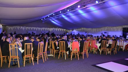 The charity ball at Sprowston Manor boasted an auction and a raffle with prizes ranging from a night