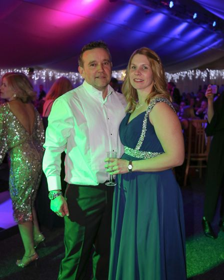 Parents Susie Ash and Justin Thorndyke hosted the ball at Sprowston Manor in memory of their baby so