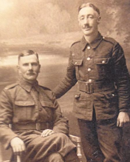 Lorna's grandfather, Charles Allen Howard, is the soldier sitting on the chair.