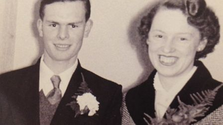 Graham and Lorna, who were married in Chelmsford on January 22, 1955
