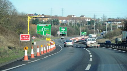 Speed restrictions on the A12 for resurfacing