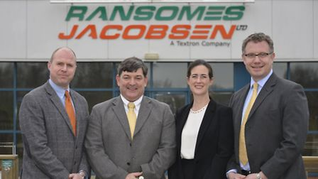 The new sales and marketing team at Ransomes Jacobsen in Ipswich: Will Carr, John Quinton, Karen Pro
