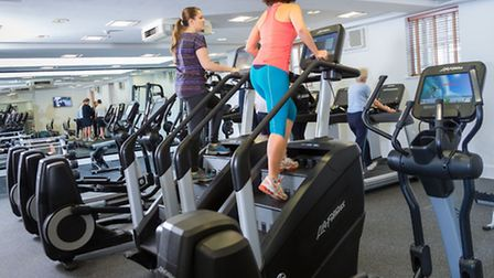 The new stair climber machines installed at The Edge Health and Fitness Club at the Bedford Lodge Ho