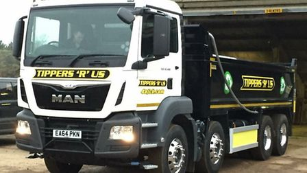 One of the new MAN trucks acquired by Tippers R Us.